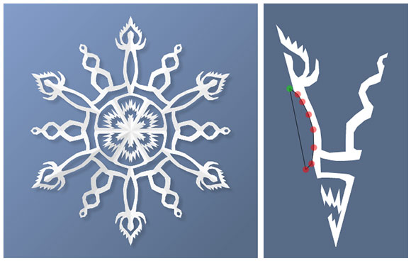paper snowflake app screencap